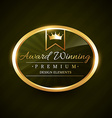 beautiful award winner golden label badge vector image