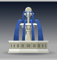 city fountain in classic style vector image