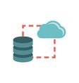 data storage sync icon vector image