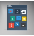 flat UI design trend icons vector image