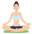 girl in lotus position vector image