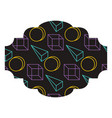label memphis pattern decoration fashion abstract vector image