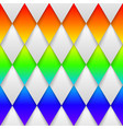 mosaic rainbow heart on black background vector image