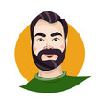 portrait of man with mustache and beard vector image