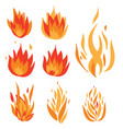 set of flame a collection of stylized vector image