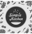 Simple Kitchen Emblem vector image
