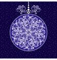 Xmas blue ball vector image