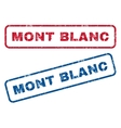 Mont Blanc Rubber Stamps vector image