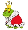 The frog king cartoon vector image
