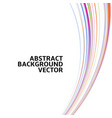 amazing linear thread abstract white vector image vector image