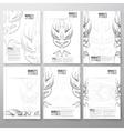 Pinstripe design backgrounds Brochure flyer or vector image