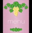menu23 vector image vector image