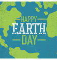 Grunge Earth Day Logo Stamp letters Earth day vector image