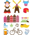 collection of Netherlands icons vector image vector image