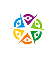 circle people diversity colorful logo vector image