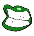 Comic cartoon grinning halloween mouth vector image