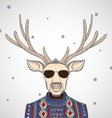 Deer in sweater vector image