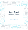 Food menu abstract template and background vector image
