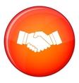 Handshake icon flat style vector image
