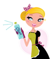 Housewife french retro maid vector image