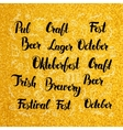 Oktoberfest Lettering over Gold Design vector image