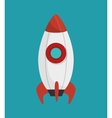 rocket startup isolated icon vector image