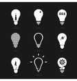Set bulbs symbol vector image