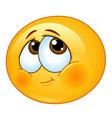 Shy emoticon vector image