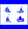 stock icons boat at sea vector image