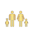Family computer symbol vector image