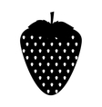 black silhouette of strawberry fruit vector image