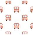 Fire truck icon cartoon pattern silhouette fire vector image
