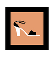 The shoe of frame vector image vector image