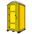 yellow mobile toilet vector image