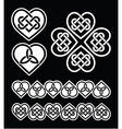 Irish Scottish celtic heart pattern vector image