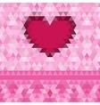 Heart love frame background vector image