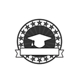 Vintage graduation stamps vector image