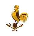 rooster cockerel crowing retro vector image vector image