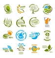 Set of organic-bio labels vector image