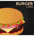 burger price fast food restauran menu vector image