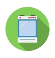 Electric cooker oven flat style vector image