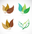 image of leaves design vector image