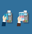 nfc payment pos terminal wireless payment vector image
