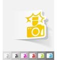realistic design element camera vector image