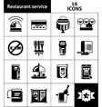 Restaurant Service Icons Black vector image