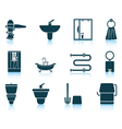 Set of bathroom icon vector image