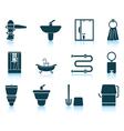 Set of bathroom icon vector image