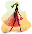 Walking lady vector image