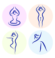 Yoga line silhouette vector image