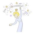 Successful Business Woman Dancing Queen of Office vector image